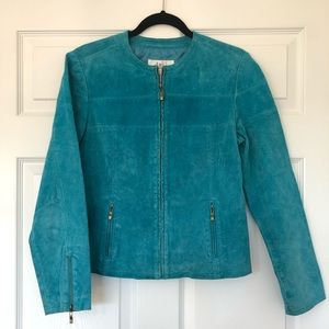 Turquoise Leather Jacket